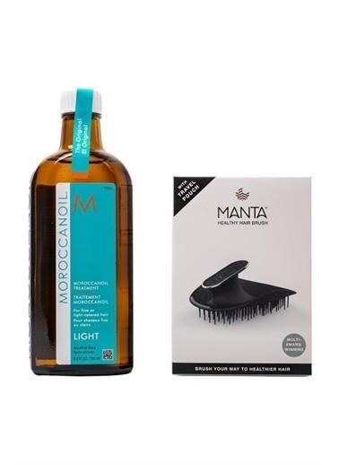 Moroccanoil Moroccanoil Light Bakım Yağı 200 Ml + Manta Esnek Black/Gold Saç Fırçası COSMOPERA/2021/1729 Renksiz